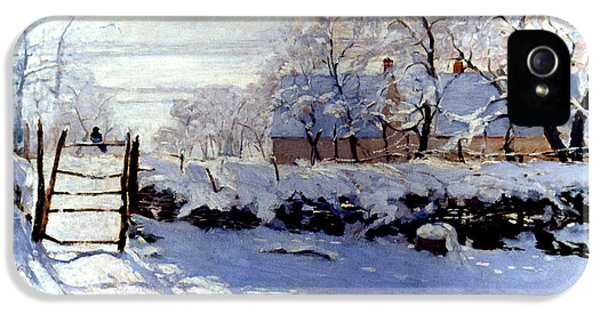 Claude Monet The Magpie - To License For Professional Use Visit Granger.com IPhone 5 Case