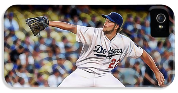 Clayton Kershaw Baseball IPhone 5 / 5s Case by Marvin Blaine
