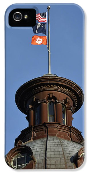 Clemson iPhone 5 Case - Clemson Flag At State House by Rob Thompson