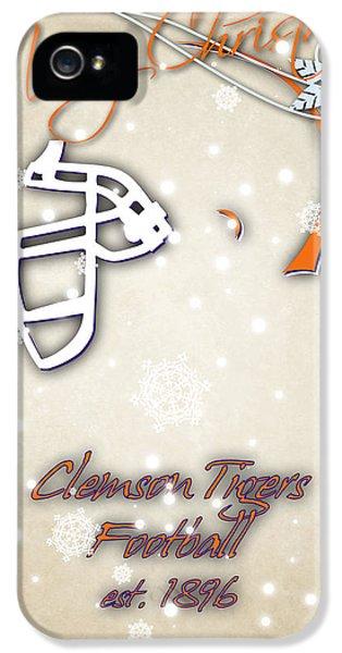 Clemson iPhone 5 Case - Clemson Tigers Christmas Card 2 by Joe Hamilton