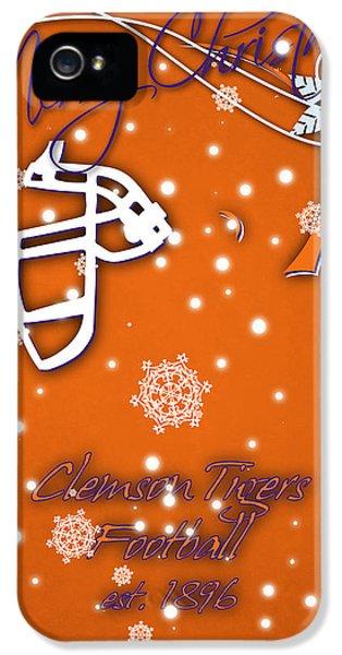 Clemson iPhone 5 Case - Clemson Tigers Christmas Card by Joe Hamilton