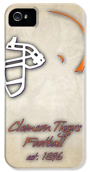 Clemson iPhone 5 Case - Clemson Tigers Helmet 2 by Joe Hamilton