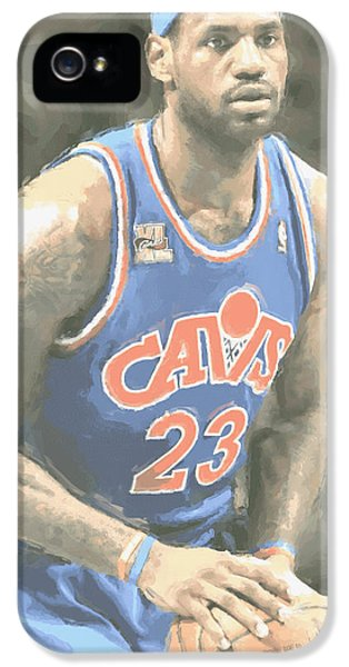 Cleveland Cavaliers Lebron James 1 IPhone 5 / 5s Case by Joe Hamilton