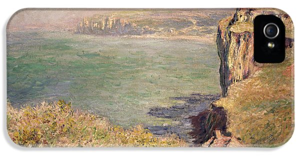 Cliff At Varengeville IPhone 5 Case by Claude Monet