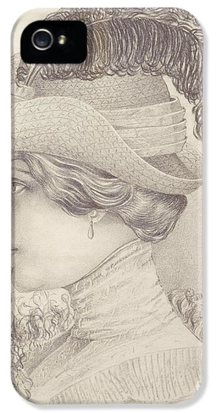Close-up Of A Young Woman, Austria, 1910 IPhone 5 Case