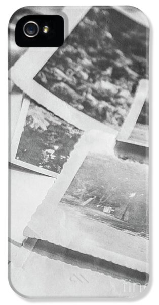 Close Up On Old Black And White Photographs IPhone 5 Case