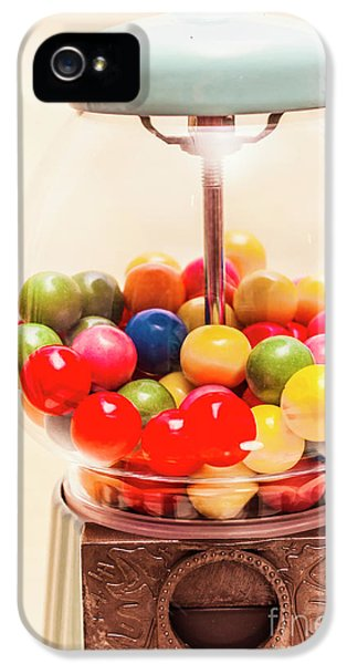 Closeup Of Colorful Gumballs In Candy Dispenser IPhone 5 Case by Jorgo Photography - Wall Art Gallery
