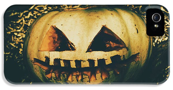 Closeup Of Halloween Pumpkin With Scary Face IPhone 5 / 5s Case by Jorgo Photography - Wall Art Gallery