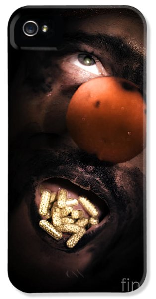 Clown With Capsules In Mouth IPhone 5 Case by Jorgo Photography - Wall Art Gallery