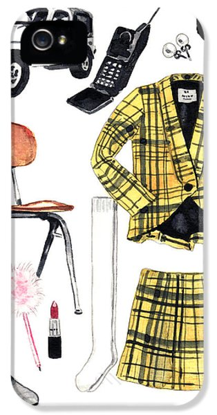 Clueless Movie Collage 90's Fashion IPhone 5 Case by Laura Row