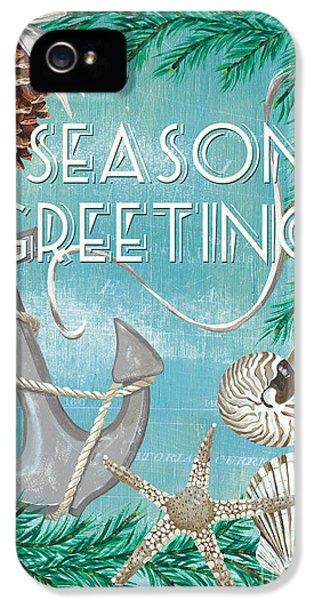 Coastal Christmas Card IPhone 5 Case by Debbie DeWitt