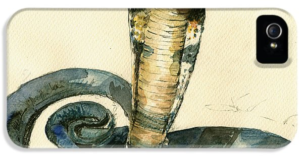 Cobra Snake Watercolor Painting Art Wall IPhone 5 Case
