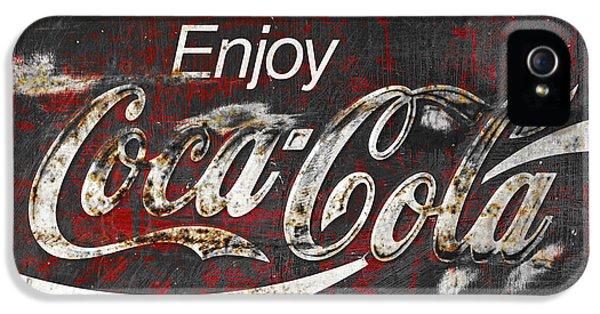Coca Cola Grunge Sign IPhone 5 Case