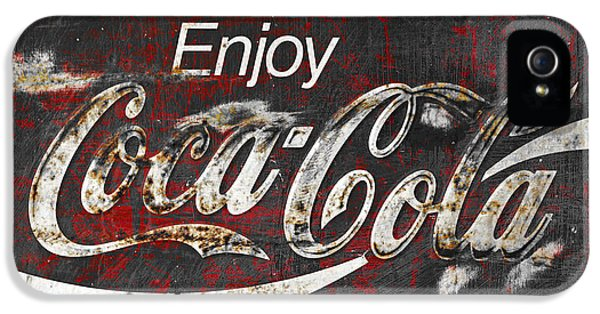 Coca Cola Grunge Sign IPhone 5 Case by John Stephens