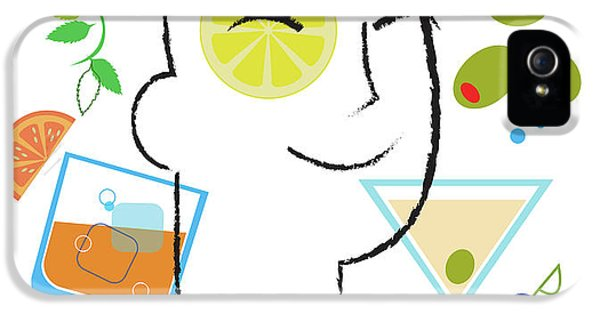 Lemon iPhone 5 Case - Cocktail Time by Lisa Henderling