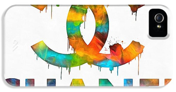 Coco Chanel Paint Splatter Color IPhone 5 Case