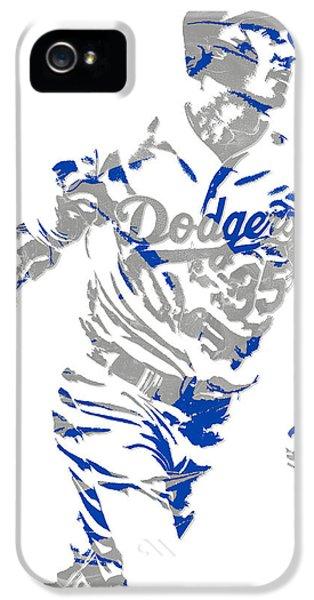 Los Angeles Dodgers iPhone 5 Case - Cody Bellinger Los Angeles Dodgers Pixel Art 1 by Joe Hamilton