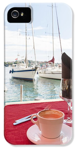 Coffee At Mediterranean Harbour IPhone 5 Case