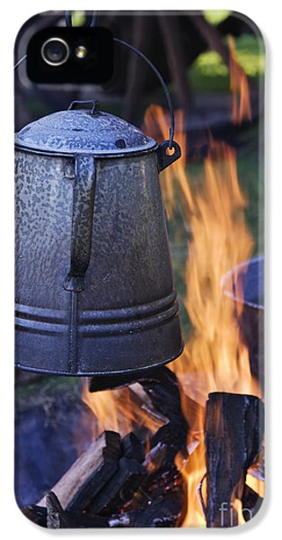 Coffee Pot Over An Open Fire IPhone 5 Case by Jeremy Woodhouse