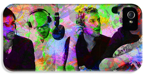 Coldplay Band Portrait Paint Splatters Pop Art IPhone 5 / 5s Case by Design Turnpike