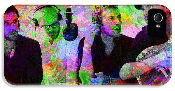 Coldplay Band Portrait Paint Splatters Pop Art IPhone 5 Case