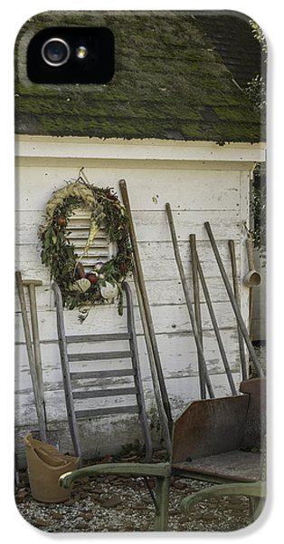 Colonial Nursery Potting Shed IPhone 5 Case by Teresa Mucha