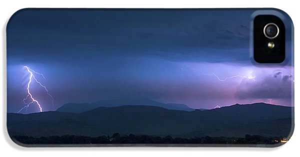 IPhone 5 Case featuring the photograph Colorado Rocky Mountain Foothills Storm by James BO Insogna