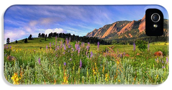 Landscape iPhone 5 Case - Colorado Wildflowers by Scott Mahon