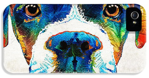 Colorful Boxer Dog Art By Sharon Cummings  IPhone 5 Case
