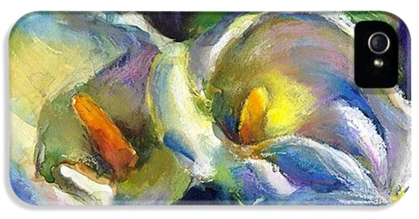 iPhone 5 Case - Colorful Calla Flowers Painting By by Svetlana Novikova