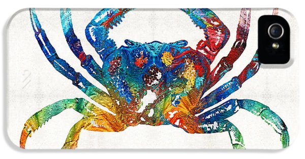 Colorful Crab Art By Sharon Cummings IPhone 5 Case