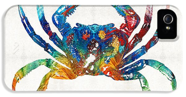 Colorful Crab Art By Sharon Cummings IPhone 5 / 5s Case by Sharon Cummings