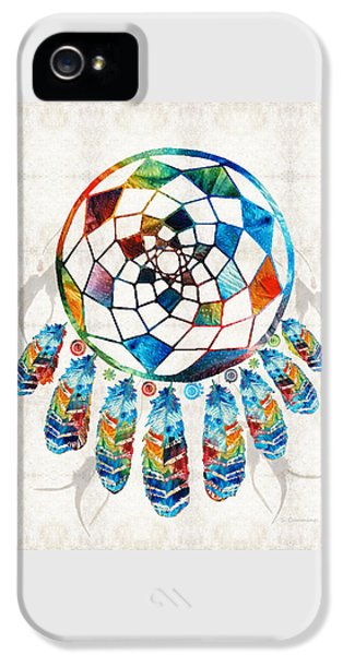 Colorful Dream Catcher By Sharon Cummings IPhone 5 Case