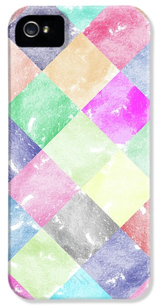Colorful Geometric Patterns IIi IPhone 5 Case by Amir Faysal