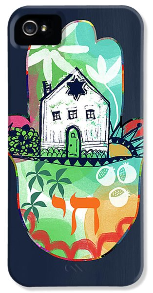 Colorful Home Hamsa- Art By Linda Woods IPhone 5 Case by Linda Woods