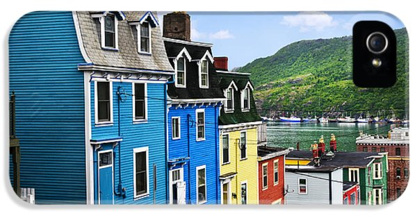 Colorful Houses In St. John's IPhone 5 Case by Elena Elisseeva