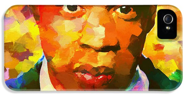 Colorful Jay Z Palette Knife IPhone 5 Case by Dan Sproul