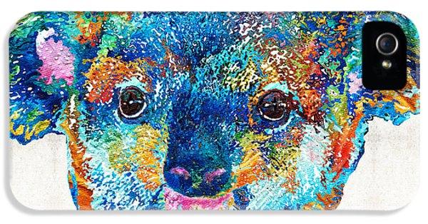 Colorful Koala Bear Art By Sharon Cummings IPhone 5 Case by Sharon Cummings