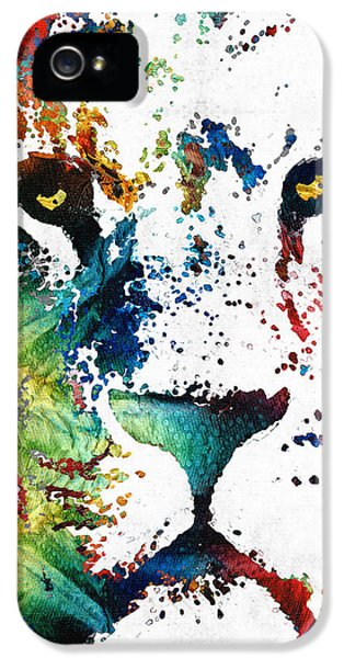 Colorful Lion Art By Sharon Cummings IPhone 5 Case