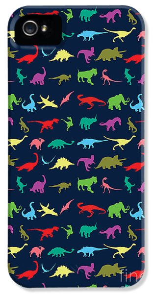 Colorful Mini Dinosaur IPhone 5 Case by Naviblue