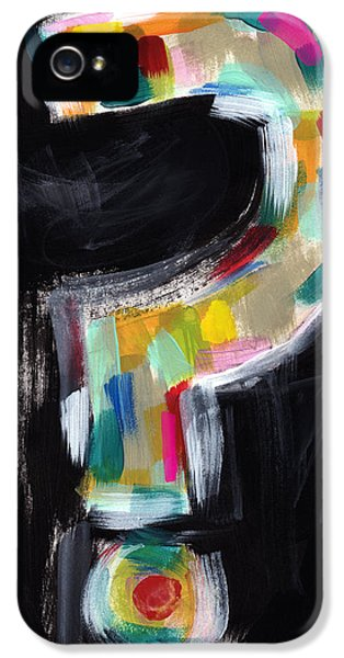 Colorful Questions- Abstract Painting IPhone 5 Case by Linda Woods