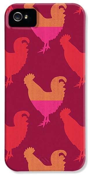 Colorful Roosters- Art By Linda Woods IPhone 5 Case by Linda Woods