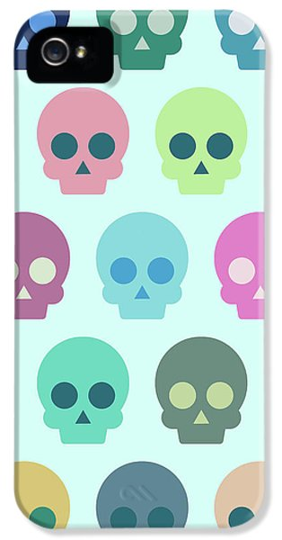 Colorful Skull Cute Pattern IPhone 5 Case by Amir Faysal