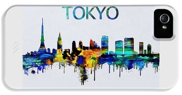 Colorful Tokyo Skyline Silhouette IPhone 5 Case by Dan Sproul