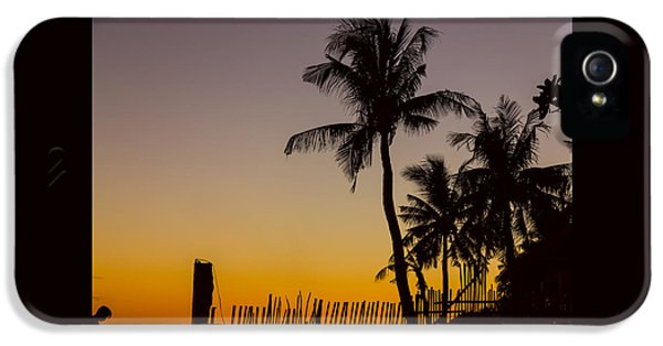 Colorful Tropical Paradise Sunset Silhouettes IPhone 5 Case by James BO Insogna