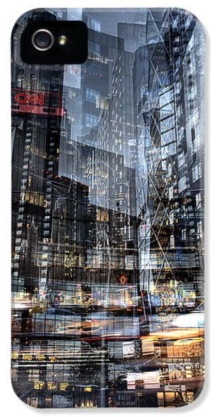Columbus Circle Collage 1 IPhone 5 Case by Dave Beckerman