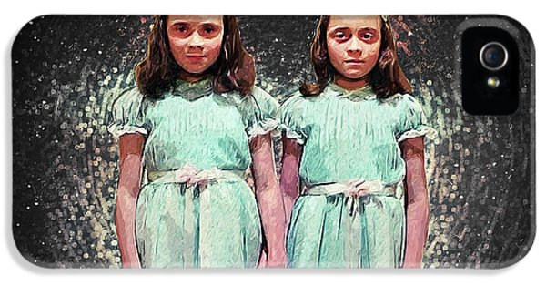 Come Play With Us - The Shining Twins IPhone 5 Case by Taylan Apukovska