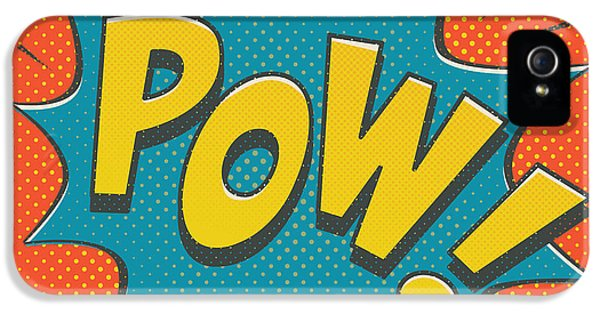 Comic Pow IPhone 5 Case by Mitch Frey