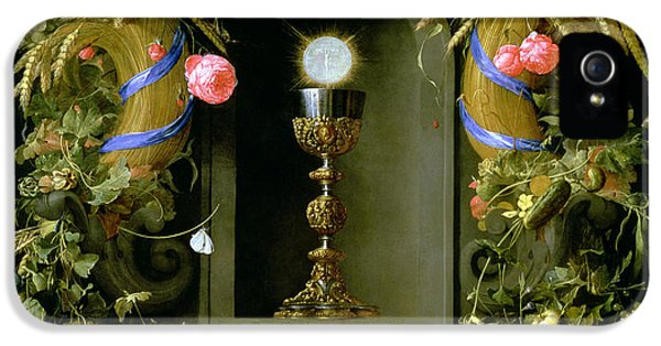 Communion Cup And Host Encircled With A Garland Of Fruit IPhone 5 / 5s Case by Jan Davidsz de  Heem