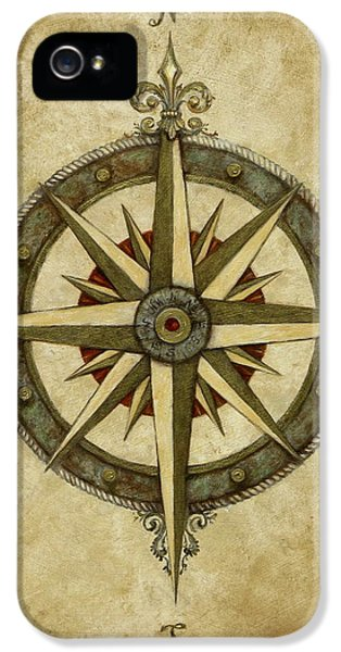 Rose iPhone 5 Case - Compass Rose by Judy Merrell